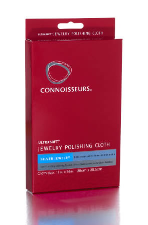 Connoisseurs UltraSoft® Silver Jewelry Polishing Cloth