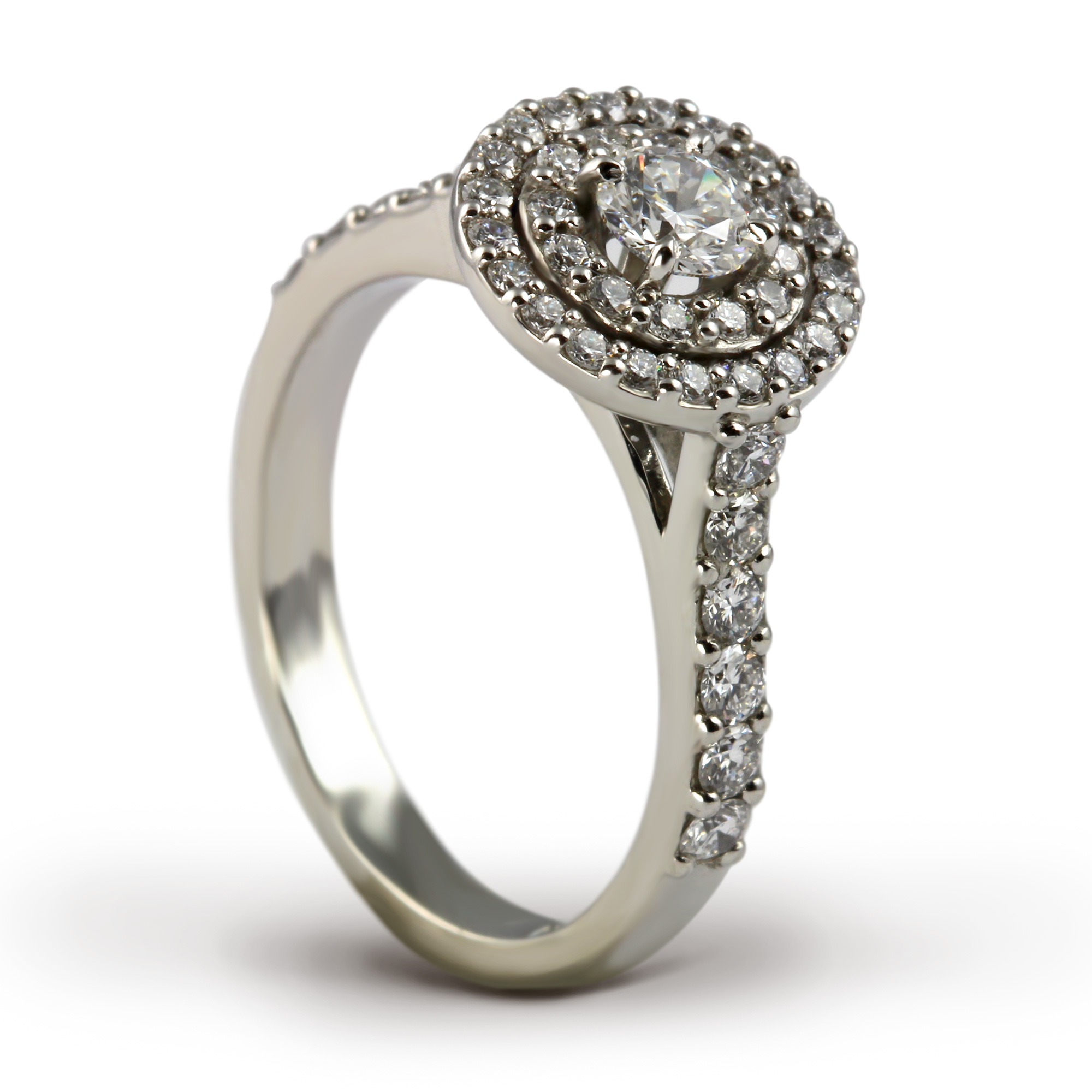 Platinum Diamond Double Halo Ring Henry D Johnstone Jewellers of