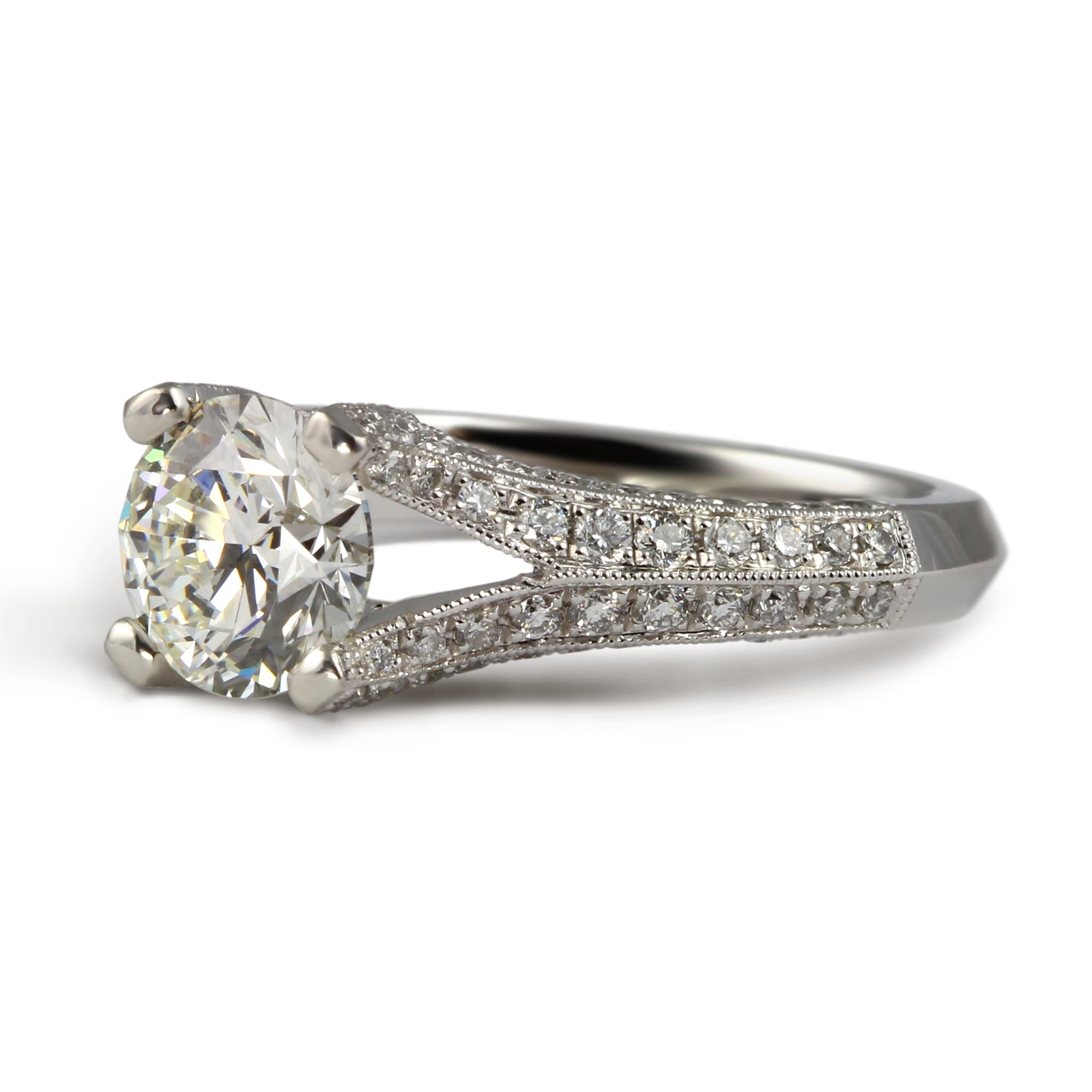 simply engagement diamond platinum solitaire ring tacori