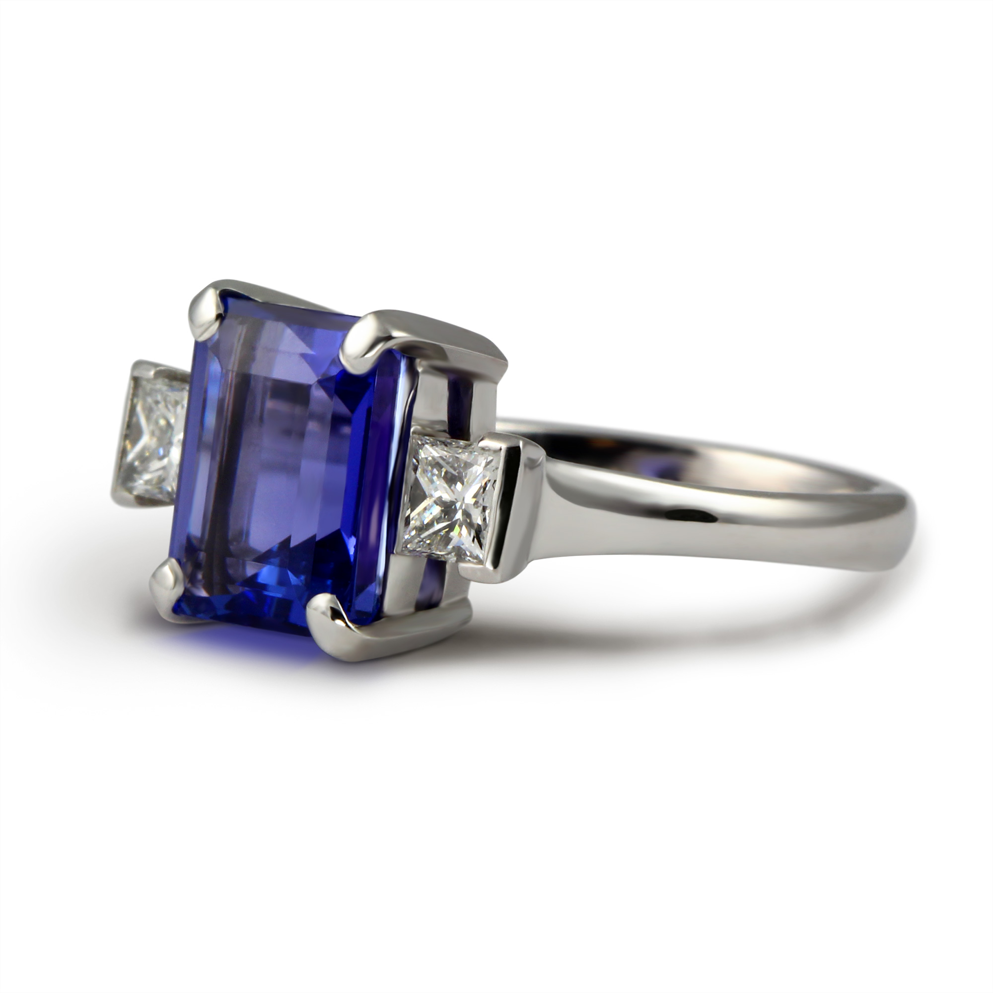 elegant solitaire princess ring cut oblacoder cushion tanzanite rings diamond