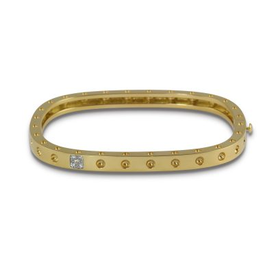 Roberto Coin Pois Moi 18ct Yellow Gold Bangle.