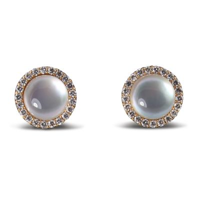 Roberto Coin Cocktail Rock Crystal Quartz Stud Earrings.