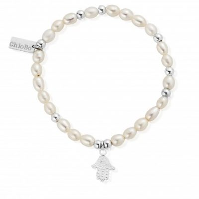 Chlobo Mini Pearl Decorated Hamsa Hand Bracelet