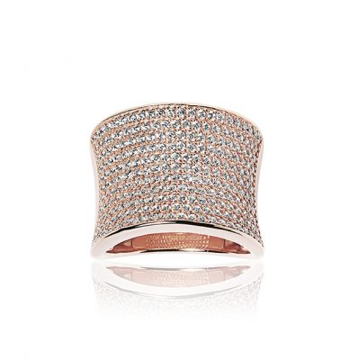 Dinami Pendant – 18K Rose Gold Plated With White Cubic Zirconia