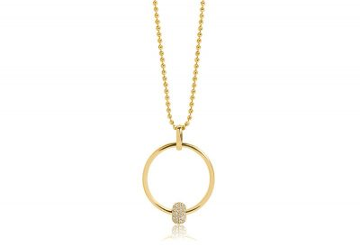 Pendant Lariano – 18k gold plated with white zirconia