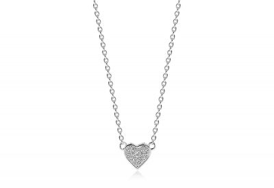 Amore Uno Necklace With White Cubic Zirconia