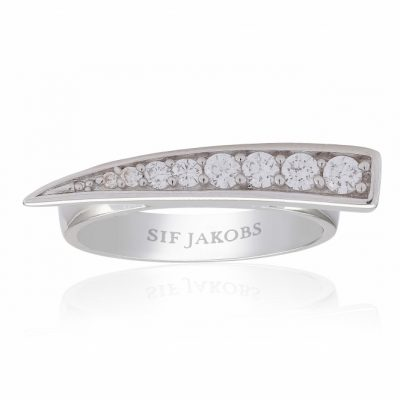 Pila Ring With White Zirconia