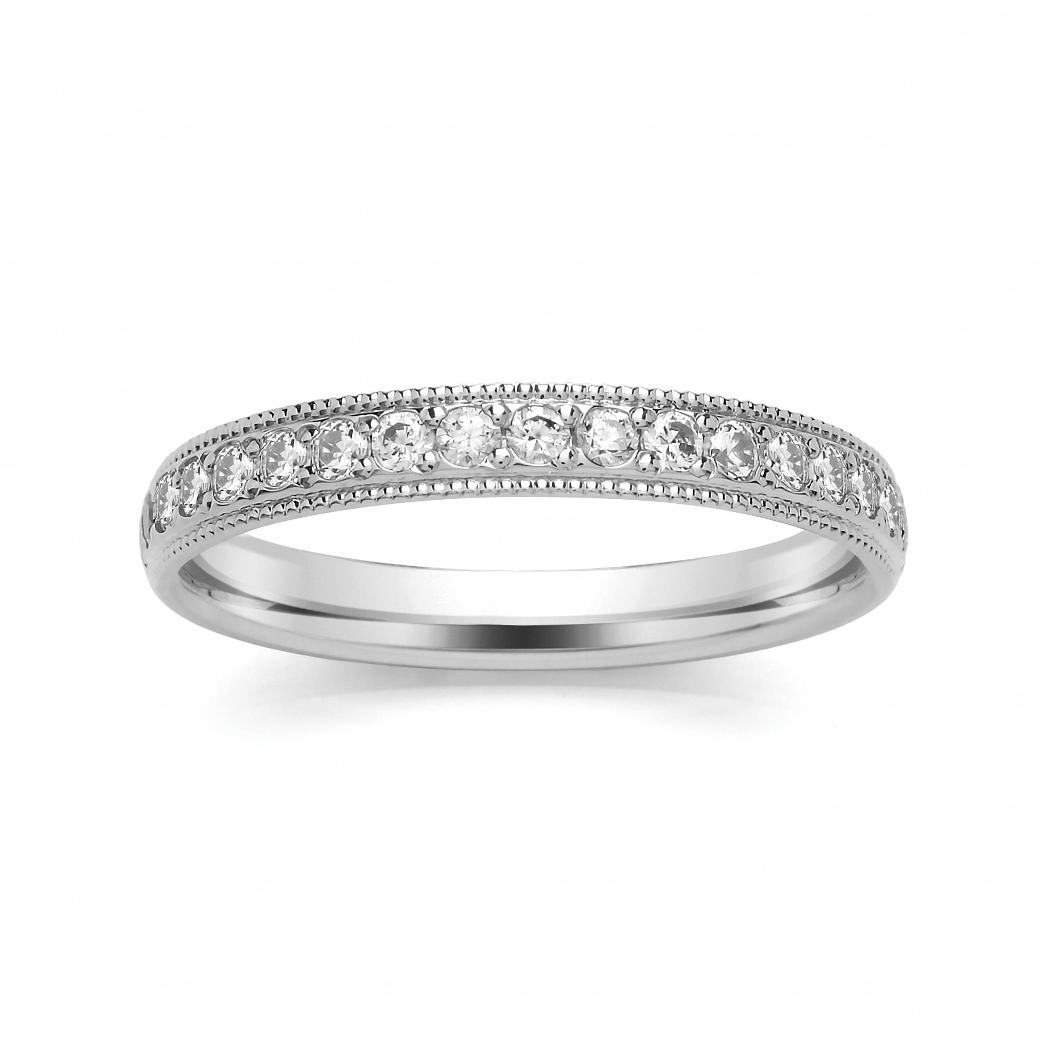 diamond ctw milgrain white wedding products shape in gold rings v band