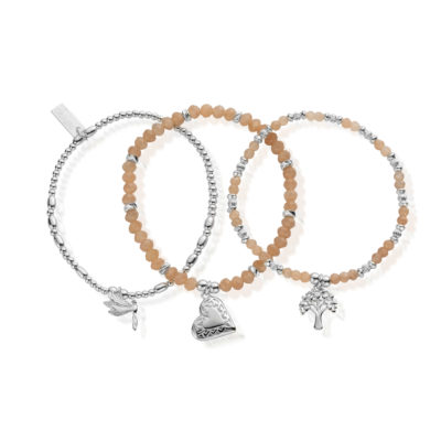 Cherabella Strength, Love & Harmony Set Of Three Bracelets