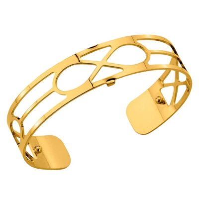 Les Georgettes 14mm Infinity Gold Tone Cuff Bangle