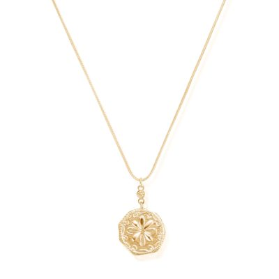 Chlobo Ariella Gold Flower Coin Necklace