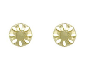Stud Mania 9ct Yellow Gold Stella Large Openwork Ball Stud Earrings.