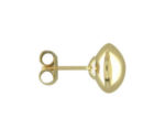 9ct Yellow Gold Polished Finish Dome Stud Earrings.