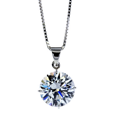 Carat 9ct White Gold Round Brilliant Cut Pendant