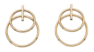 9ct Yellow Gold Double Circle Earrings