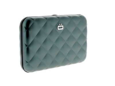 OGON Platinum Quilted Button Press Card Case Wallet