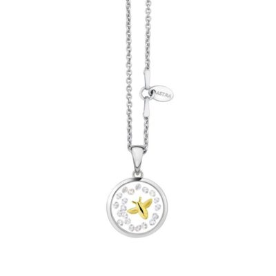 Astra 'Star' Yellow gold pendant- 16mm