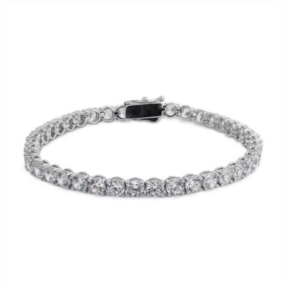 Carat Sterling Silver Round Brilliant Cut Tennis Bracelet