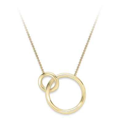 9ct Yellow Gold Large Interlinked Rings Necklace